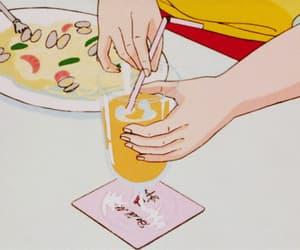 gif, juice, and anime food image