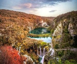 autumn, waterfall, and Croatia image