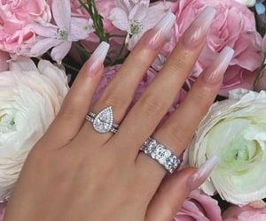 jewelry, diamonds, and flowers image