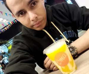 black, orange, and selfie image