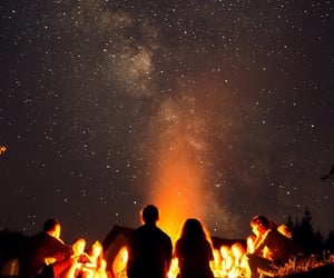 camping, living, and sky image