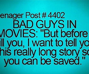 bad guy and text image