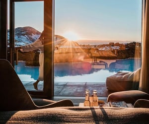 blue lagoon, hotel, and iceland image