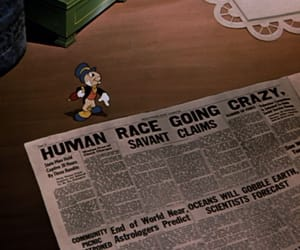 1940s, end of the world, and jiminy cricket image