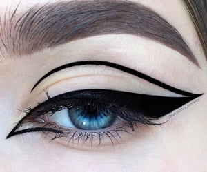 black, makeup, and beauty image