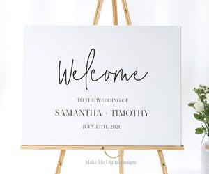 etsy, wedding reception, and modernweddingsign image