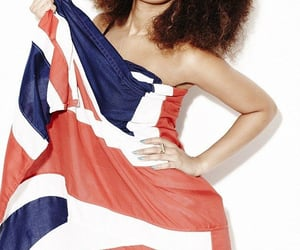 beautiful, curly hair, and flag image
