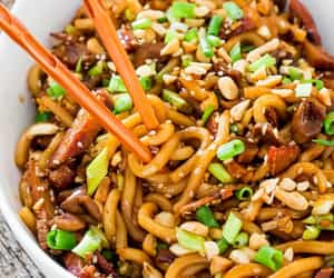 asian, noodles, and udon image