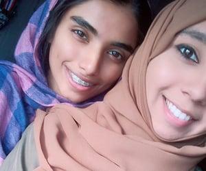 girl, muslim, and hijâbi image
