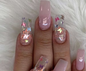 aesthetics, butterfly, and nails image