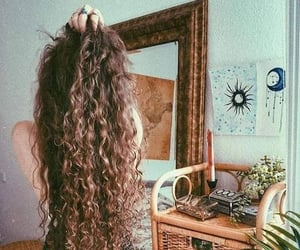 hair, curly, and girl image