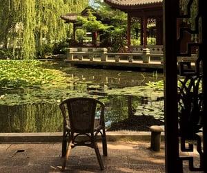 chair, korea, and spring image
