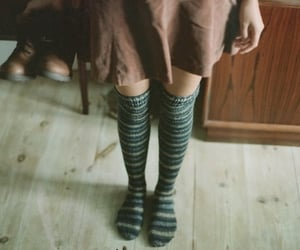girl, vintage, and socks image