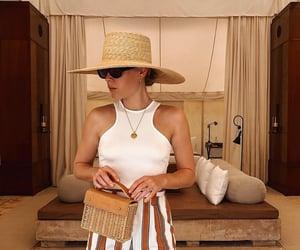 accesories, bag, and beachwear image