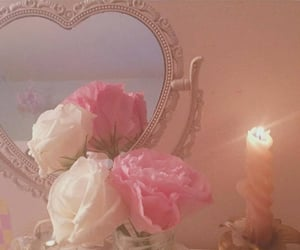 flowers, pink, and candle image