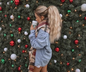 christmas, starbucks, and blonde image