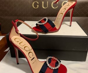 gucci, heels, and shoes image