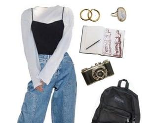 backpack, black, and doc martens image