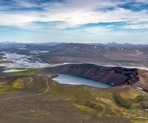 iceland, +iceland bláhylur, and lake in iceland image