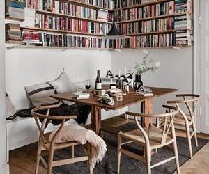 books, interior, and vogue image