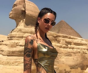 egypt, girl, and tattoo image