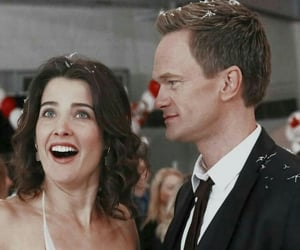 how i met your mother, barney, and couple image