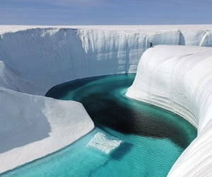 ice, nature, and greenland image