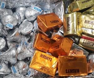 chocolate, hersheys, and kisses image