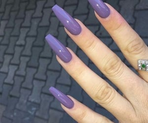 nails, fashion, and violet image