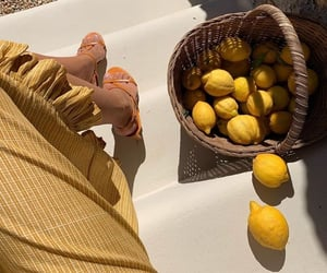 yellow, summer, and fruit image