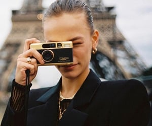 black, camera, and eiffel image