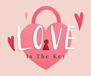 key, love, and Valentine's Day image