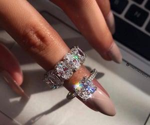 diamond, nails, and rings image