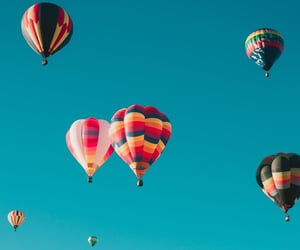fly, ballon, and travel image