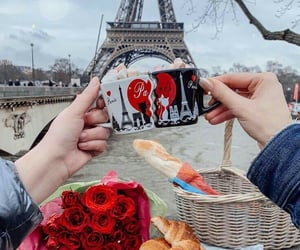 couple, flowers, and food image