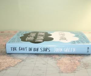 book, john green, and blue image