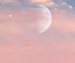 moon, pink, and pastel image