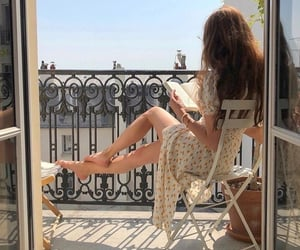 girl, aesthetic, and book image