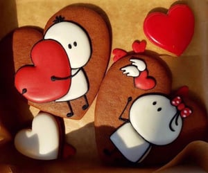 bakery, hearts, and sweet image