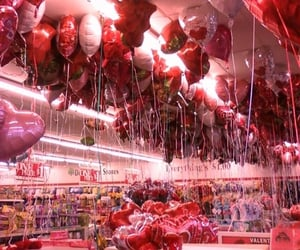 balloons, red, and heart image