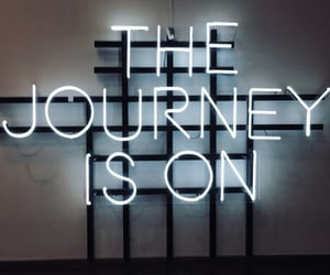 is, journey, and neon image