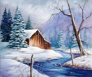 arte, ilustraciones, and invierno image