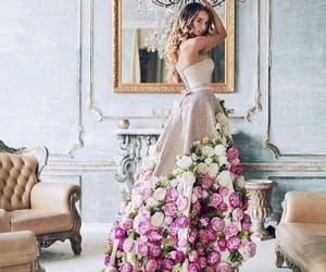 prom ball gown and sparkly prom dress image