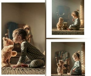 child, teddy, and girl image