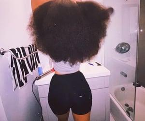 hair, natural hair, and long hair image