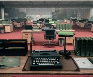 control, desk, and job image