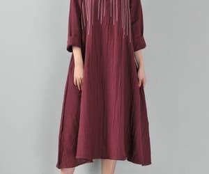 etsy, maxi dress, and burgundy dresses image