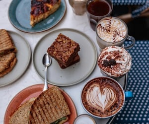 brownies, brunch, and coffee image