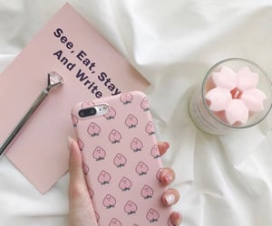 pink, aesthetic, and case image