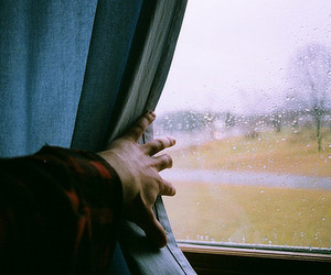 rain, vintage, and photography image